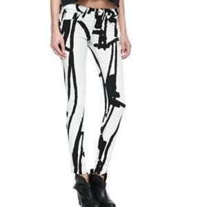 The Legging abstract-print skinny jeans rag & bone